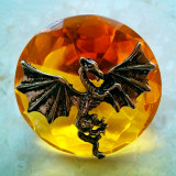 Dragon On Amber Circle