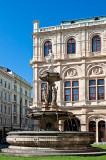Fountain At Vienna Opera House