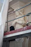 Caryatid Under Renovation