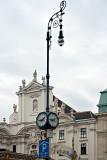 Tall Lantern With Round Clocks