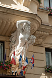 Caryatid With Flags