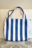 Blue stripe bag 1
