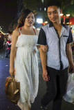 Loving Couple at the Night Market