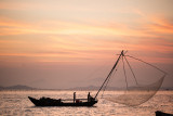 fishmens' boat and net