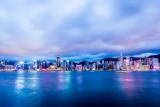 Hong Kong Sunset on a rainy day