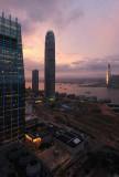 hong kong at dusk