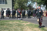 Lt Col Rob Duda CO of the Stormont Dundas and Glengarry Highlanders and parade commander