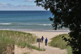 Whitefish Dunes State Park--Doggies are allowed on this part of the beach.
