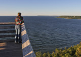 Looking out from the tower at Peninsula State  Park