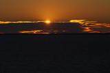 Sun setting on Green Bay