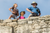 Climbing Maya Pyramid Nohoch Mul of Coba