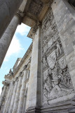 The wall of Reichstag