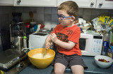 Mixing Waffle Batter