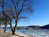 Ice on the Ohio River.