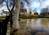 Flood Waters Covering Yard & Gardens