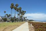 Santa Barbara beach, bike route