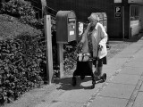 Grandma posted a letter in the pillar box