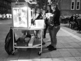 At the popcorn stand