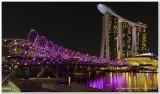 Double Helix Bridge in Purple