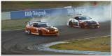 Brad Tuohy, Nissan S15, leading Matt Hambridge, 350Z
