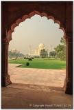 View to the Taj Mahal