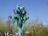 Bronze sculpture at the Botanical gardens