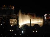 Bellagio Fountains at night.