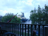 Watching a barge pass on the Savannah River