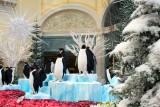 Snow scene inside the Bellagio