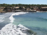Waves at Cala Saona