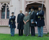 At the Homestead:  Guard, JSM, Ann, Abe and 2nd Guard