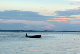Boater During a Sunset Moment