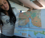 Thalia Showing Us Map of the Salinas area