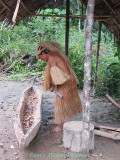 Male Yagua Carving Out a Canoe