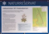 Den nya infoskylten vid reservatet