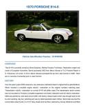 1970 PORSCHE 914-6 vin 914.043.0300 For Sale - Page 1