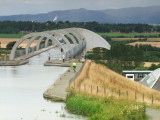 The  Falkirk  Wheel , from  the  upper  canal.