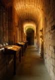 Corridor  with  display  cabinets.
