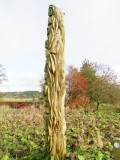 Well  carved  totem  pole