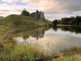 Morton  Castle  reflected  in  Morton  Loch.