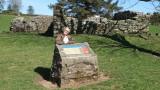 Ann  at  Little  Dalton  Church  ruins.