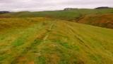 Lyne  Roman  fort , SW defences.