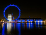 London Eye in blue