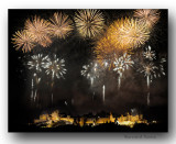 Feux d'artifices sur Carcassonne-Fireworks over Carcassonne, France