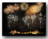 Feux d'artifices sur Carcassonne-Fireworks over Carcassonne, France