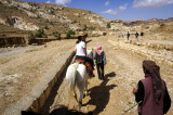 our visit to Petra starts with a horse ride; not sure why!