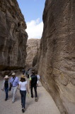 we start our walk through the narrow rock cleft