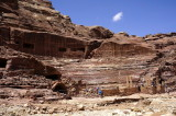 here's an amphitheatre the Nabataeans cut into the tomb site in Roman style