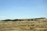 passing the new village and archeological site of Humayma