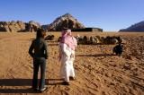 a semi-permanent bedouin camp